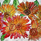 flowers illustration for childrens book by derekmccrea