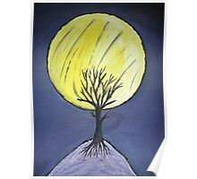 Tree in the moonlight. Poster