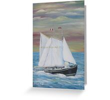 Norma and Glady's Schooner. Greeting Card