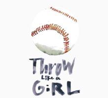 Throw Like a Girl Kids Tee