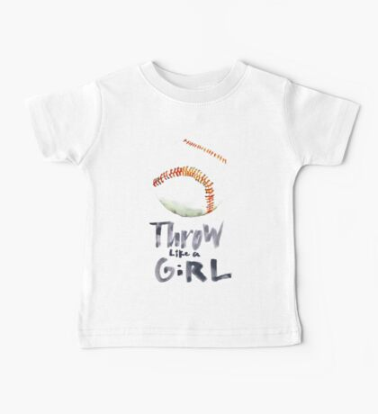 Throw Like a Girl Baby Tee