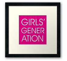 Girls' Generation Framed Print