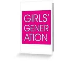 Girls' Generation Greeting Card