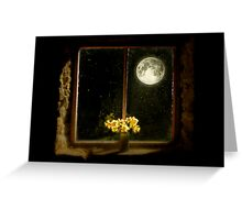 Moonlight and Daffodils Greeting Card