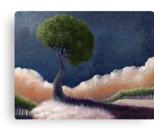 Tree Over the BIg Black Canvas Print
