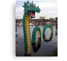 Look What Just Popped Out of the Lagoon! Canvas Print