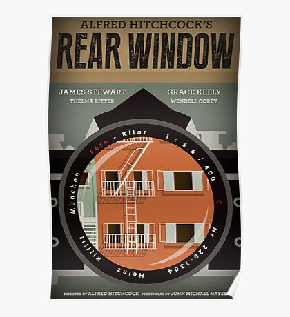Rear Window alternative movie poster Poster