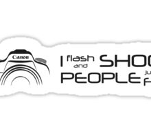Shoot People for Fun Hyperspace Version (v3) Sticker