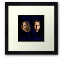 X-Files Scully and Mulder now Framed Print
