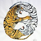 Yin/Yang Tiger Struggle by Viona Pfeiffer