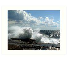 Ocean Burst Art Print