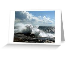Ocean Burst Greeting Card