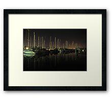 A Private Top End Marina (100 Step Program) Framed Print