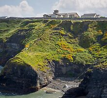 old convent above cliffs by morrbyte