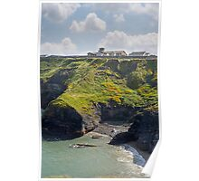 old convent above cliffs Poster
