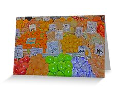 vegetable market 2 Greeting Card