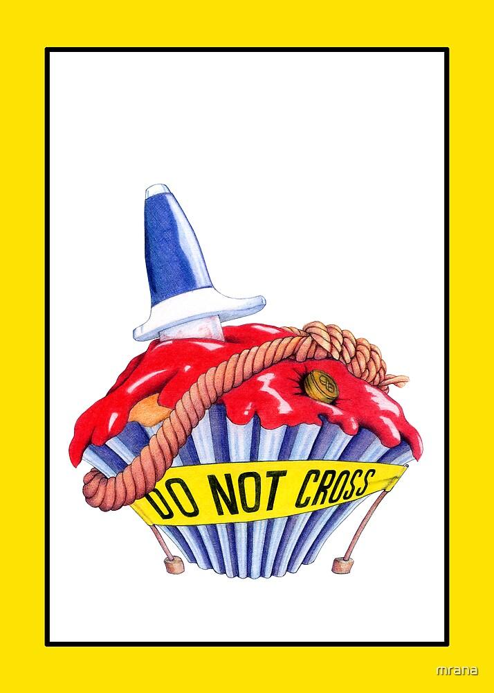 Crime Scene Cupcake by Mariana Musa