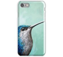 Spring is Humming - Hummingbird realistic painting iPhone Case/Skin