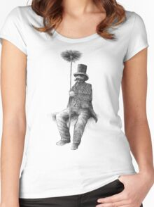The Chimney Sweep (monochrome) Women's Fitted Scoop T-Shirt