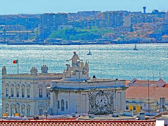 Lisbon. Tejo river view from the Castle by terezadelpilar~ art & architecture