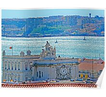 Lisbon. Tejo river view from the Castle Poster