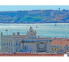 Lisbon. Tejo river view from the Castle Photographic Print