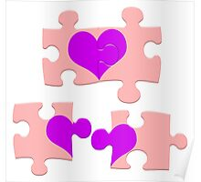 Love is a Puzzle Poster