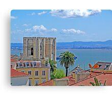Sé de Lisboa. (Cathedral). Tejo river. Canvas Print