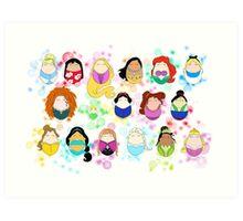 Ladies of Disney Art Print