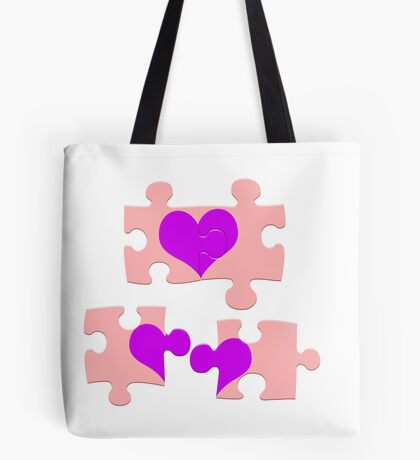 Love is a Puzzle Tote Bag