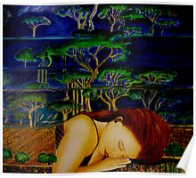 Nature Sleeping - Oil Painting Poster