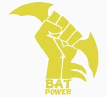 BATMAN POWER - BLACK POWER - BAT POWER ( yellow ) Kids Clothes