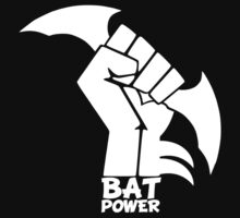 BATMAN POWER - BLACK POWER - BAT POWER ( white ) by KokoBlacksquare