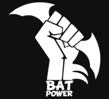 BATMAN POWER - BLACK POWER - BAT POWER ( white ) by KokoBlacksquare