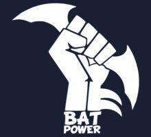 BATMAN POWER - BLACK POWER - BAT POWER ( white ) Kids Clothes