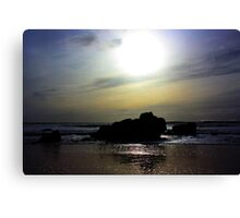 Sunset over the Rocks. California, Highway 1 Canvas Print