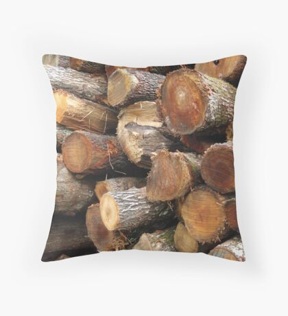 Logs Galore . .. Throw Pillow