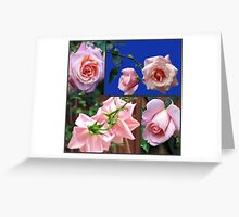 High Hopes - Peach Roses Collage Greeting Card