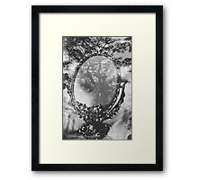 mirror and tree double exposure Framed Print