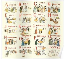 Kate Greenaway 1886 A Apple Pie Complete Alphabet Plates Poster