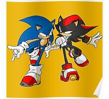 sonic and shadow Poster