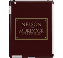 Nelson & Murdock - Attorneys at Law (Daredevil) iPad Case/Skin