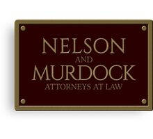 Nelson & Murdock - Attorneys at Law (Daredevil) Canvas Print