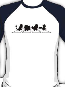 pokemon - Abbey Road - beatles - pikachu -  T-Shirt
