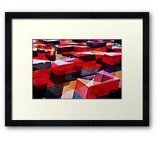 redblocks Framed Print