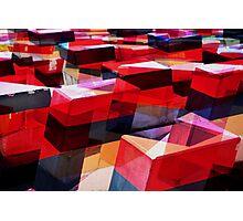 redblocks Photographic Print