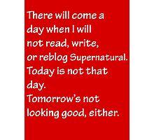 Read Write or Reblog Supernatural Photographic Print
