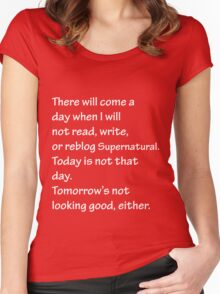 Read Write or Reblog Supernatural Women's Fitted Scoop T-Shirt