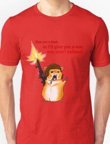 Hamster Rambo Text T-Shirt