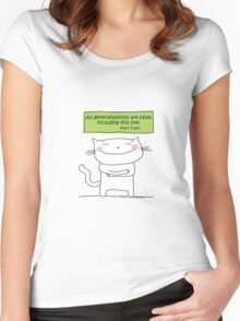 All generalizations are false... / Cat doodle Women's Fitted Scoop T-Shirt